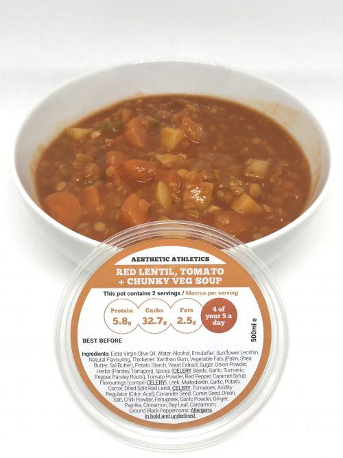 Red Lentil, Tomato + Chunky Veg